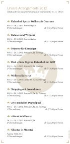 Preisliste 2012.pdf - Hotel Kaiserhof Münster - Page 2
