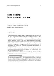 Road Pricing: Lessons from London - Economic Policy