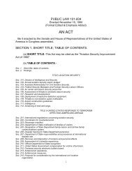 Aviation Security Improvement Act of 1990 - Archives