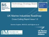 UK Marine Industries Roadmap - Motorsport Industry Association