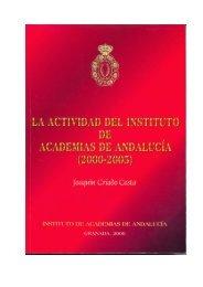 CRIADO COSTA, JOAQUÍN (2006): La Actividad del Instituto de ...