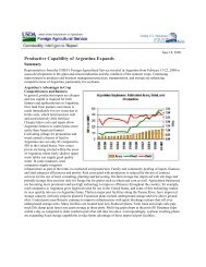 Productive Capability of Argentina Expands - Global Crop ...