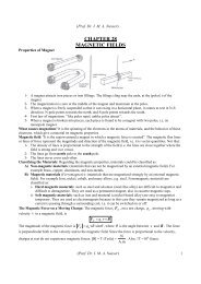 CHAPTER 28 MAGNETIC FIELDS - KFUPM