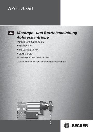 A75 - A280 - Becker-Antriebe - Home