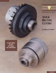 disc/cone clutches - Industrial and Bearing Supplies