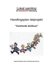 """Handlingsplan """"Vandrande skolbuss"""" - Vänersborgs kommun"""