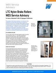 LTC Nylon Brake Rollers WES Service Advisory - SPX Transformer ...