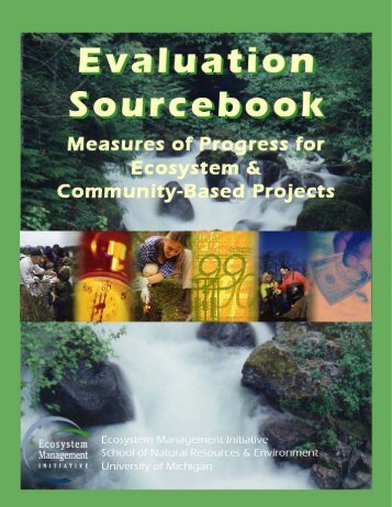Evaluation Sourcebook (.pdf) - School of Natural Resources and ...