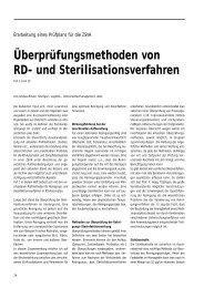 Überprüfungsmethoden von RD- und Sterilisationsverfahren