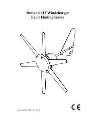 Rutland 913 Windcharger Fault Finding Guide - Marlec Engineering ...