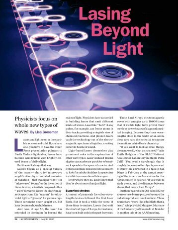 Lasing Beyond Light - Science News