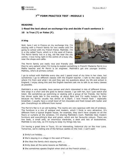 7th Practice Test 1 pdf - e-tools 4 english