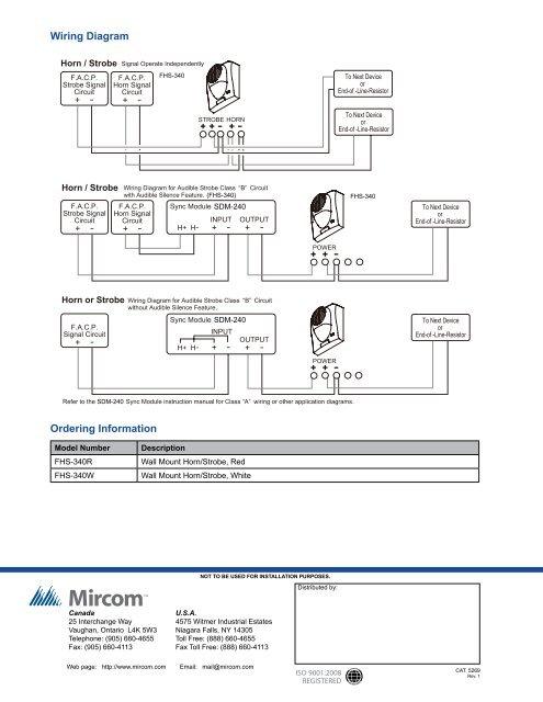 Wiring Diagram SDM-240 Or on