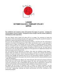 LUGANO OCTOBER 23rd 2010 - FEBRUARY ... - Lugano Turismo