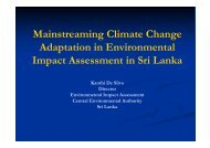 Mainstreaming Climate Change Adaptation in ... - AECEN