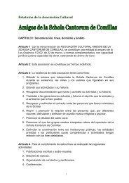Estatutos de la Asociación Cultural - Schola Cantorum de Comillas