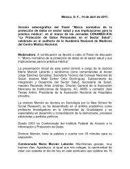 Panel de discusión No. 1. Marco normativo - Comisión Nacional de ...