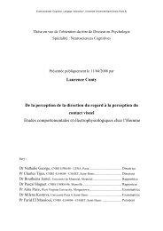Laurence Conty De la perception de la direction du ... - E-Corpus