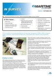 In Survey September 2009 issue 3 - Maritime New Zealand