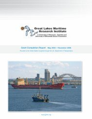 15 MB - Great Lakes Maritime Research Institute