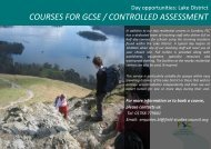 Secondary options - Field Studies Council