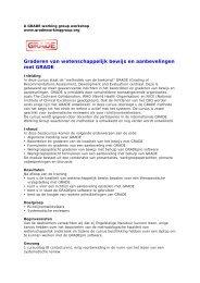 Cursus Graderen van bewijs en aanbevelingen met GRADE - Dutch ...