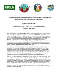 Understanding the Impacts of Mining in the Western Lake Superior ...