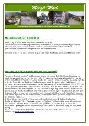 Moezelnieuwsbrief 1 juni 2011 Waarom de Moezel ... - Moezel Reizen