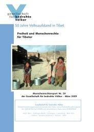 50 Jahre Volksaufstand in Tibet - Gesellschaft für bedrohte Völker