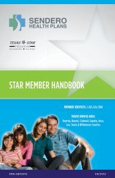 STAR MEMBER HANDBOOK - Sendero Health Plans