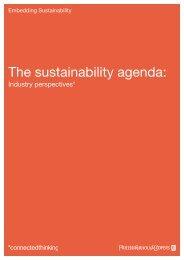 The sustainability agenda: - PwC