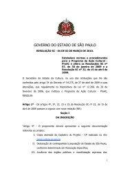 Secretaria de Estado da Cultura - Governo do Estado de São Paulo