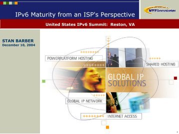 IPv6 Maturity from an ISP's Perspective - Stan Barber