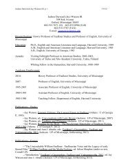 Judson Durward (Jay) - Department of English - University of ...