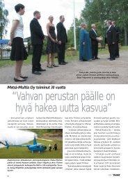 Metsä-Multia Oy toiminut 30 vuotta s. 72