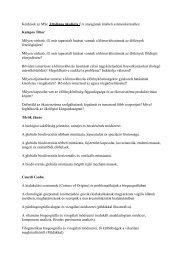 Kérdések az MSc Általános ökológia EA írásbeli számonkéréséhez