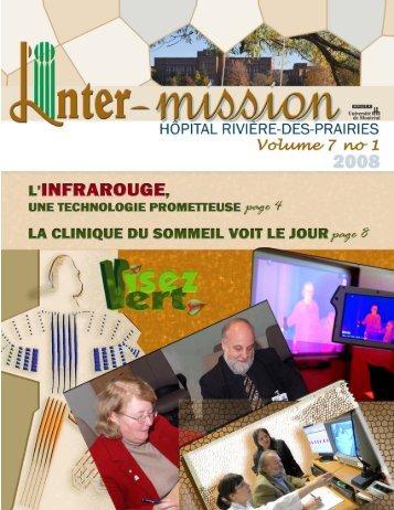 Volume 7 no 1 - Hôpital Rivière-des-Prairies