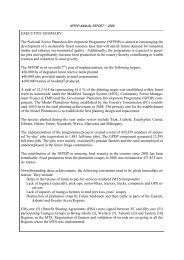 NFPDP Annual Report 2008 - The Forestry Commission of Ghana