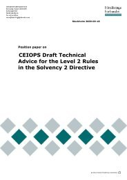 CEIOPS Draft Technical Advice for the Level 2 Rules in the Solvency ...