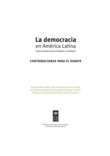 La Democracia en América Latina: Contribuciones para el Debate