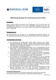 Strategiekonzept (PDF, 83,56 kB) - Fachhochschule des bfi Wien