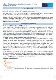 proje genel bilgi gerçekleştirilen çalışmalar - UNICEF Türkiye