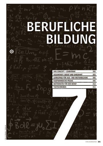 Berufliche Bildung - Volkshochschule Hannover