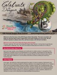 15th Annual Dragon Boat Festival www ... - Sport Nova Scotia