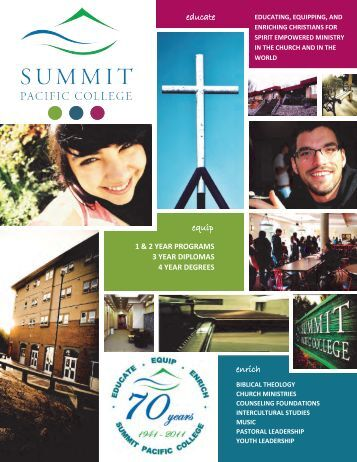 Summit Pacific College Catalogue 2011-12