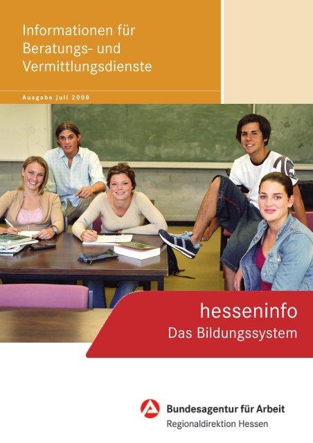 """""""hesseninfo"""" - Das Bildungssystem - Bundesagentur für Arbeit"""