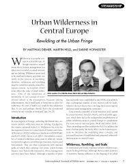 Urban Wilderness in Central Europe - Wilderness.net