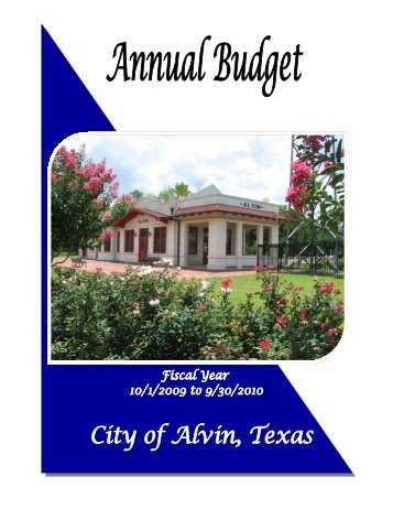 Annual Budget 2010 - City of Alvin