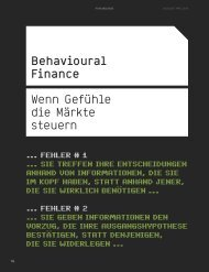 Behavioural Finance - Wenn Gefühle die Märkte steuern - BhFS