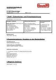G 520 Glasreiniger 1 Stoff- / Zubereitungs- und Firmenbezeichnung ...